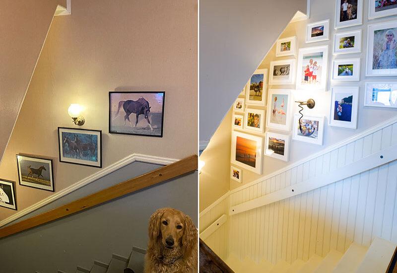 Före/efter-bilder trappen!